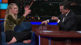 Jennifer Lawrence on The Late Show with Stephen Colbert