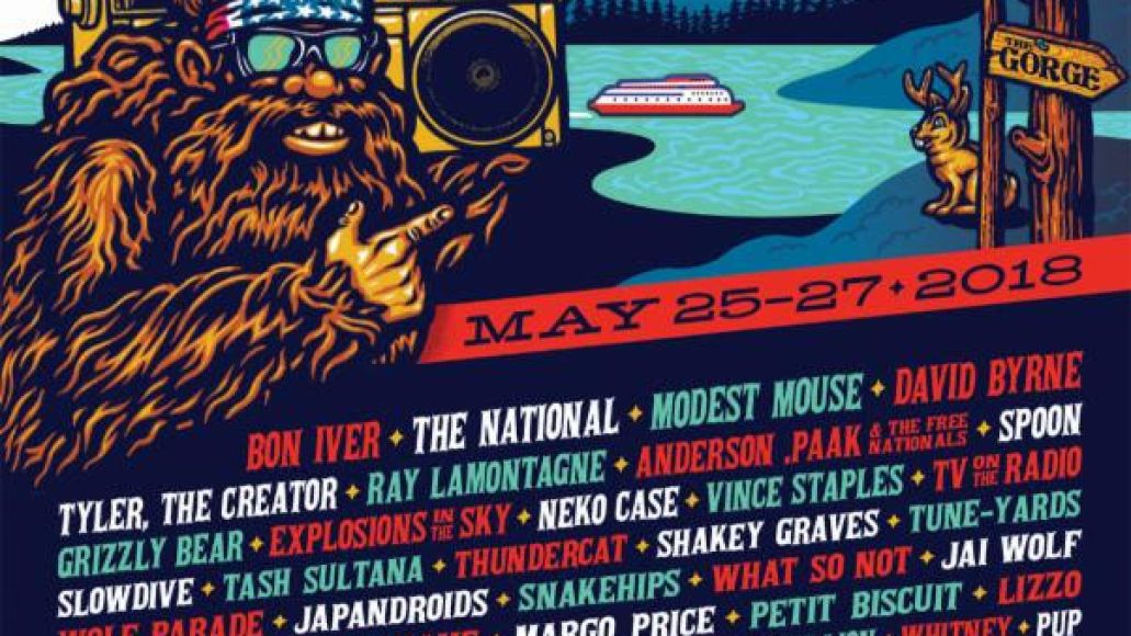 sasquatch 2018 Sasquatch! reveals 2018 lineup: Bon Iver, The National, David Byrne, and Modest Mouse lead the way