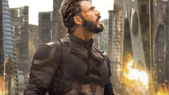 Chris Evans as Captain American in Avengers: Infinity War