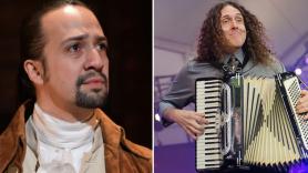 "Lin-Manuel Miranda and ""Weird Al"" Yankovic, photo by Ben Kaye (L)"
