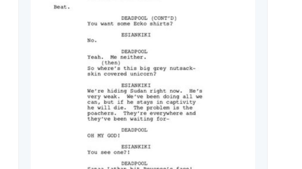 screen shot 2018 03 28 at 9 53 49 am Donald Glover shares script for finale to canceled Deadpool animated TV series