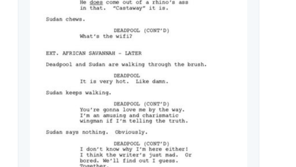 screen shot 2018 03 28 at 9 54 24 am Donald Glover shares script for finale to canceled Deadpool animated TV series