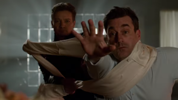 Jeremy Renner and Jon Hamm in Tag