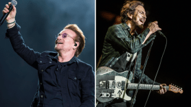 U2 and Eddie Vedder, photos by David Brendan Hall and Chris Hill