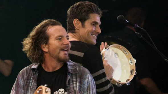 Eddie Vedder and Perry Farrell