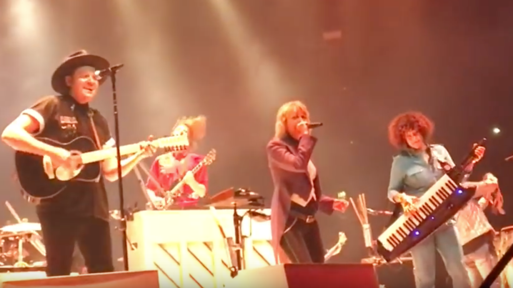 Arcade Fire with The Pretenders' Chrissie Hynde