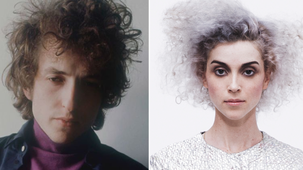 Bob Dylan (Jerry Schatzberg) and St Vincent
