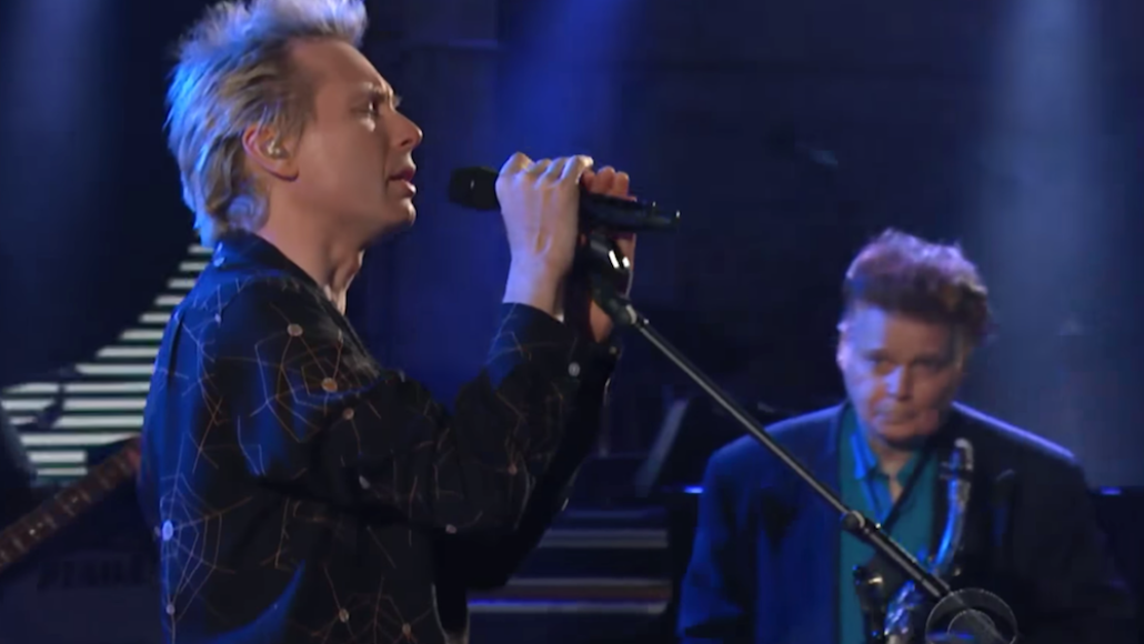 Franz Ferdinand's Alex Kapranos and James Chance on The Late Show