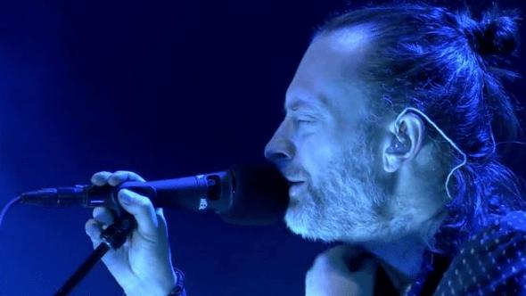 Radiohead performing in Santiago, Chile