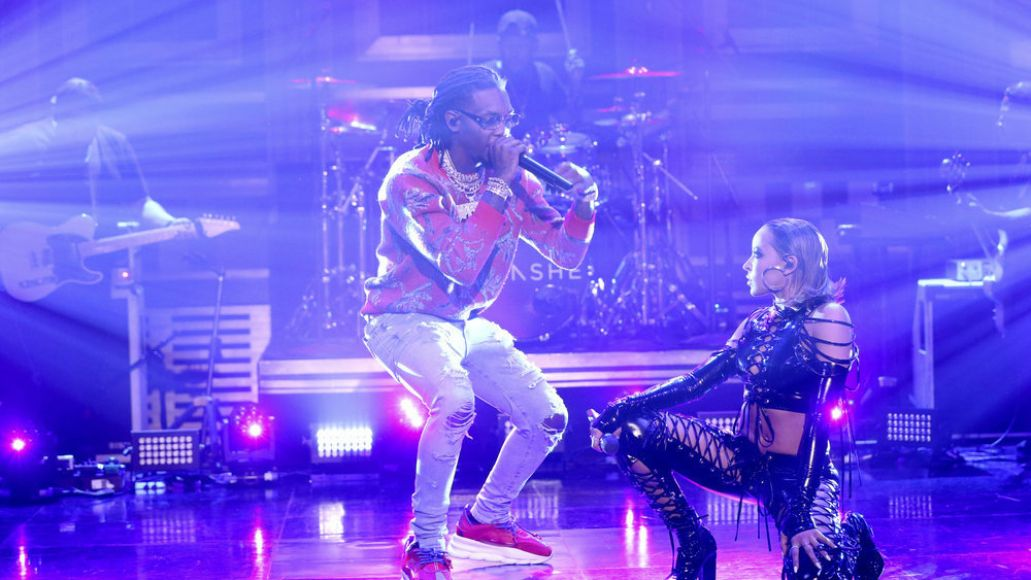 Offset and Tinashe on The Tonight Show Starring Jimmy Fallon