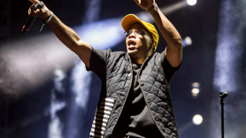 Anderson .Paak Hands Up Yellow Hat