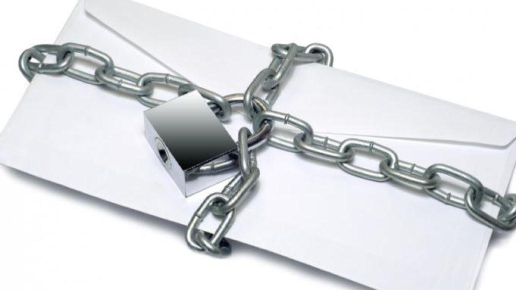 Chain letter chain lock envelope