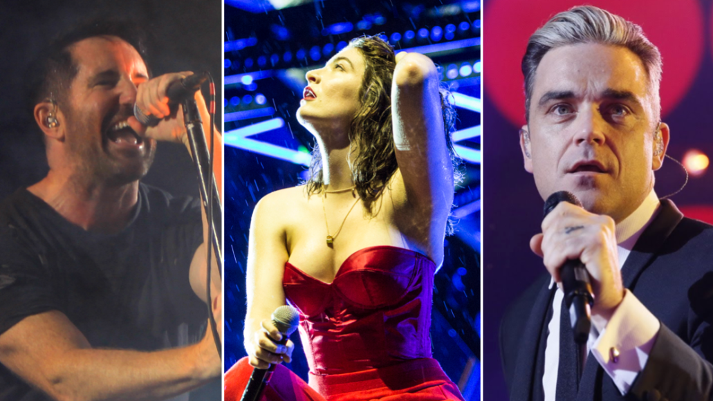Nine Inch Nails (Heather Kaplan), Lorde (Philip Cosores), and Robbie Williams (Wire)