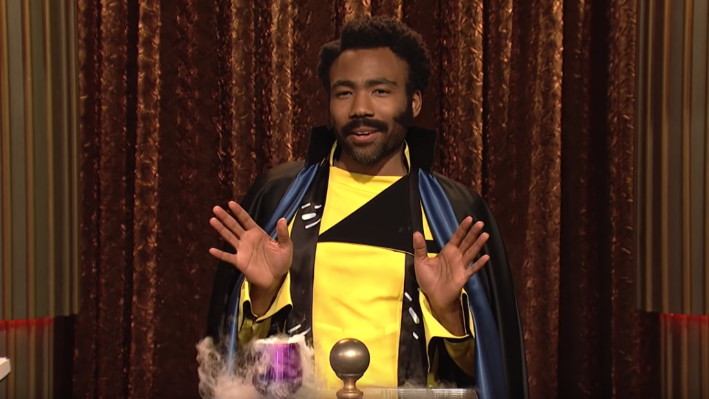 Donald Glover as Lando Calrissian on Saturday Night Live