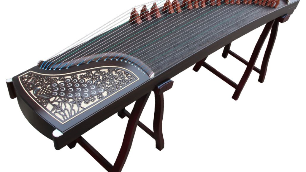 Guzheng Carved Peacock