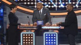 Kanye competes on Family Feud