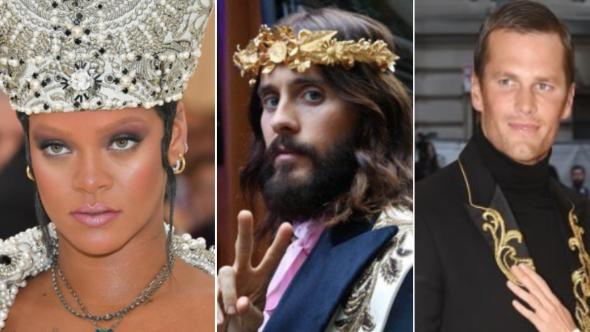 Rihanna, Jared Leto, and Tom Brady at the Met Gala