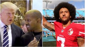 Donald Trump, Kanye West, and Colin Kaepernick
