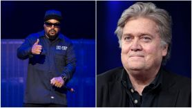 Ice Cube and Steve Bannon
