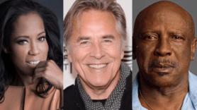 Watchmen cast members Regina King, Don Johnson, and Louis Gossett Jr.