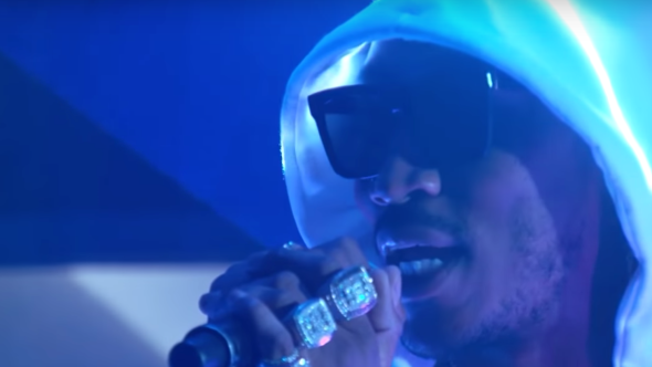 Future performs on Kimmel Superfly