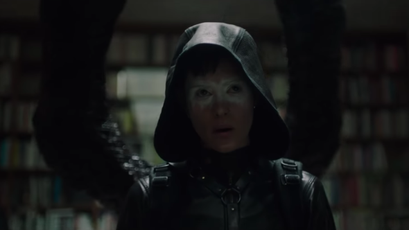 Girl in the Spider's Web Trailer Claire Foy Lisabeth Salander painted mask