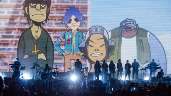 Gorillaz live debut The Now Now songs photo by Ben Kaye
