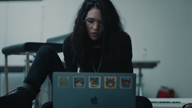 Grimes in Apple's new Mac ad