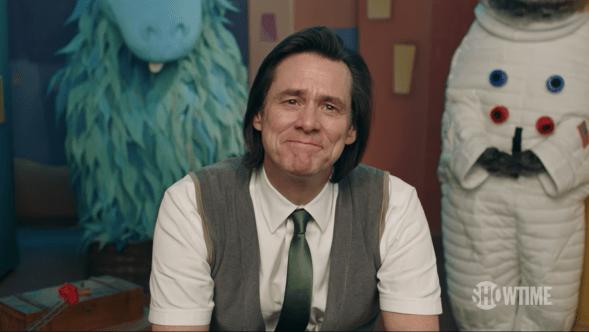 Jim Carrey Kidding Michel Gondry Showtime Trailer Still Puppet Red Smile Vest