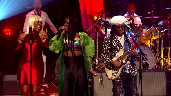Nile Rodgers CHIC Jools Holland Boogie All Night Red Live