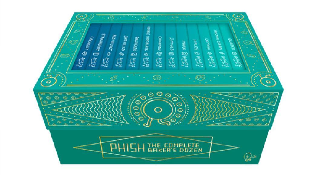 Phish the complete baker's dozen box set box packaging package