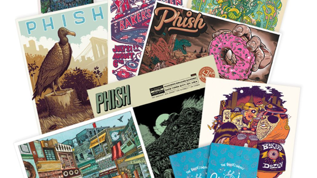Phish the complete baker's dozen box set mini prints artwork