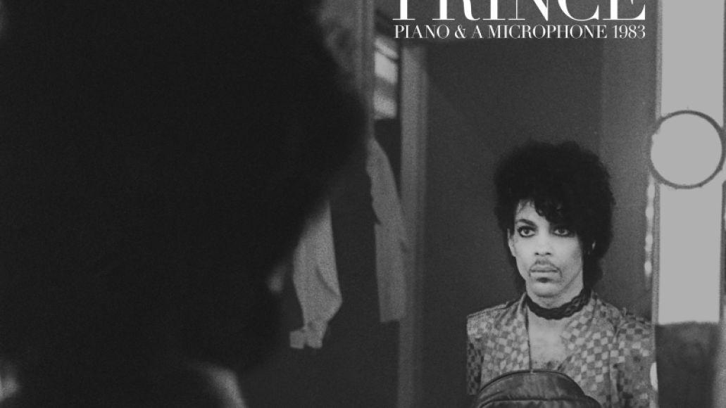 Prince Piano & A Microphone 1983 album cover art artwork black and white mirror