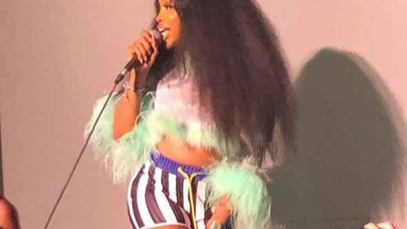 SZA visits alma mater Columbia High School