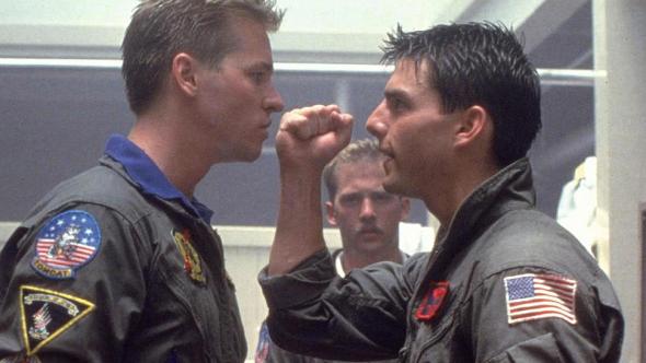 Val Kilmer Tom Cruise Iceman Top Gun Maverick Fist
