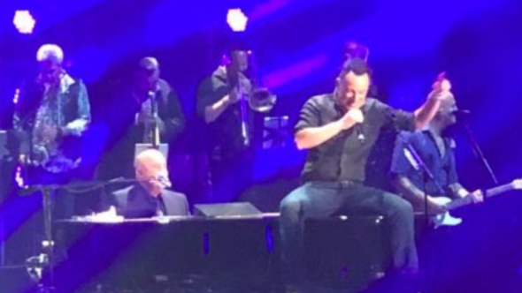Bruce Springsteen and Billy Joel performing together at MSG