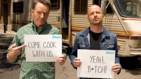 Bryan Cranston and Aaron Paul Breaking Bad Omaze Cook RV