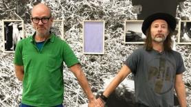 Michael Stipe and Thom Yorke, photo via Stipe's Instagram