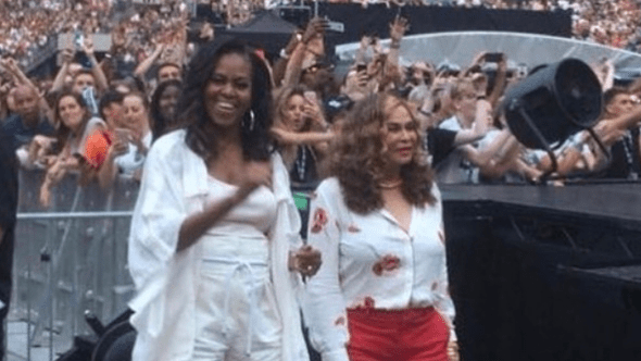 Michelle Obama and Tina Knowles