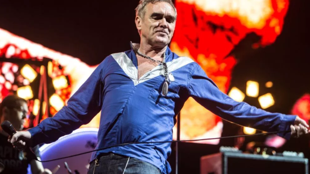 Morrissey photo by Philip Cosores New Song Blue Dreamers Eyes