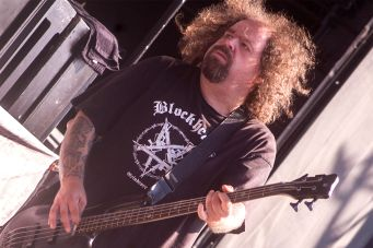 Napalm Death's Shane Embury at Jones Beach July 29, 2018