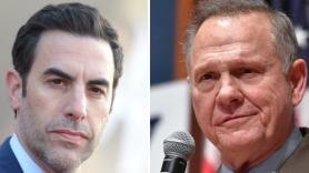 Sacha Baron Cohen and Roy Moore