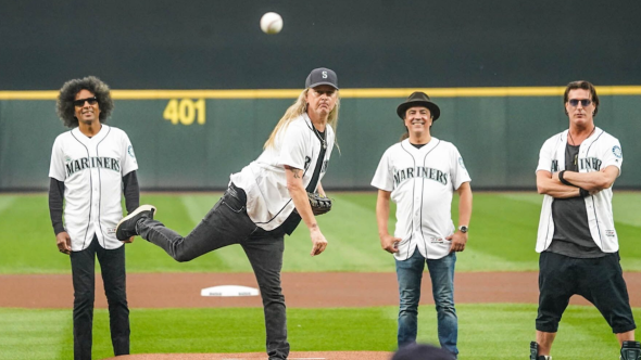 Alice in Chains first pitch