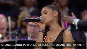 """Watch Ariana Grande performs """"Natural Woman"""" at Aretha Franklin funeral"""