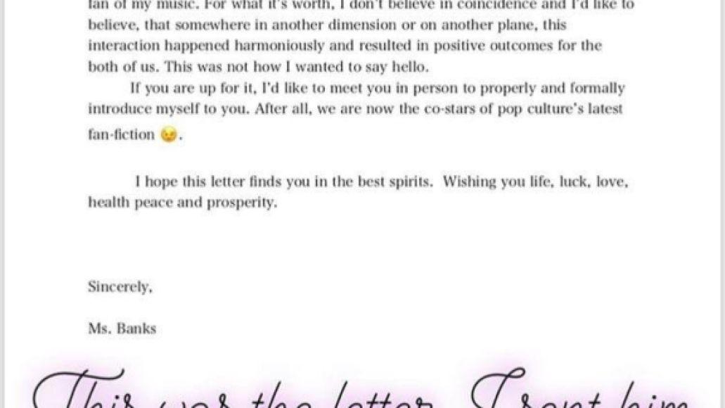 Azealia and Elon letter