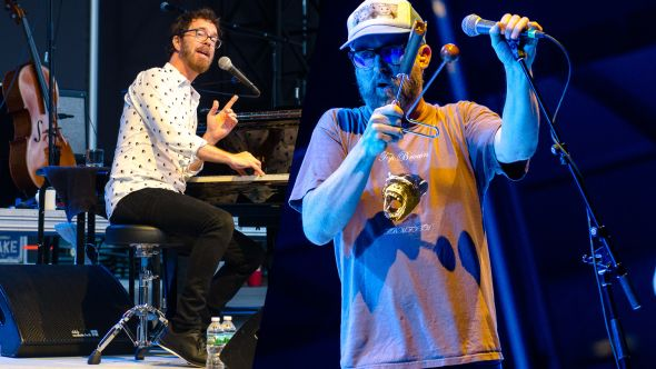 Ben Folds and Cake In Photos Review Queens New York Forest Hills Stadium Ben Kaye