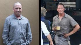 Christian Bale in Dick Cheney film (left) and Ford v. Ferrari (right)