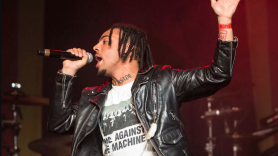 Vic Mensa give away shoes anti-bait truck Chicago