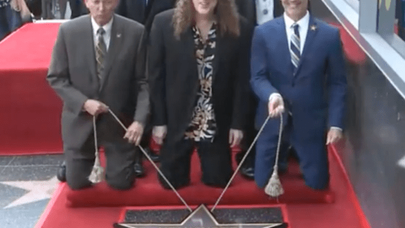 """Video """"Weird Al"""" Yankovic receives Hollywood Walk of Fame Star ceremony"""
