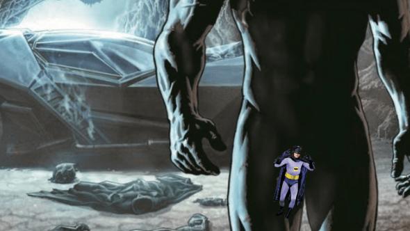 Batman's censored penis